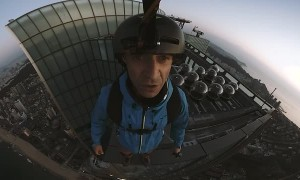 Base Jumping From 101 Floor Skyscraper