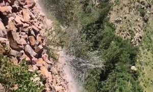 Hikers Encounter Rock Slide