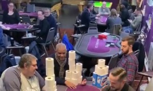Betting With Toilet Paper at Poker Table