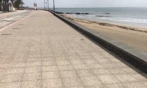 Sad Empty Beaches in Lanzarote Due to Lockdown