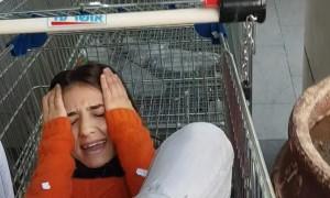 Shopping Cart Prank Traps Girl