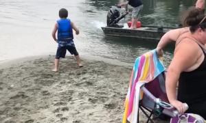 Boy Gets Blasted By Boat