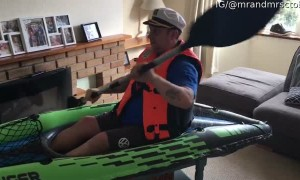Man Finds a Way to Kayak During Lockdown
