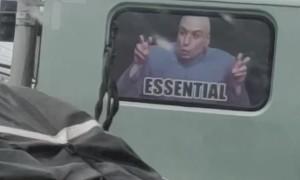 Humorous Rear Window Sticker Leaves Traffic Laughing