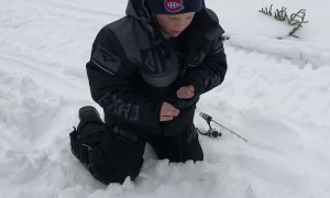 Extreme Excitement Over Huge Ice Fishing Catch