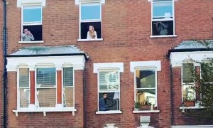 Neighbors in North London perform Shakespeare from their windows