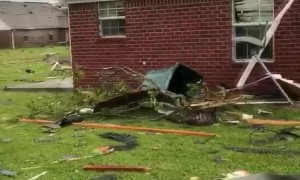 Aftermath of Massive Storm in Monroe Louisiana