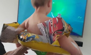 Dad Gives Son the Ultimate Quarantine Waterslide Experience