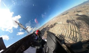 Thunderbirds fly over Las Vegas for healthcare appreciation