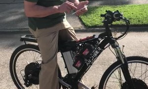 Homemade Electric Bike Has Impressive Power