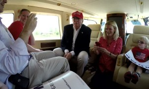 Boy Asks Trump if He's Batman during Helicopter Ride