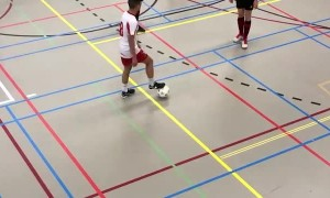 Soccer Player Shows Off Impressive Moves In Match