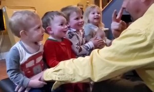 Grandkids Line up for Entertainment