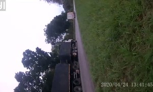 Truck Cuts Off a Car