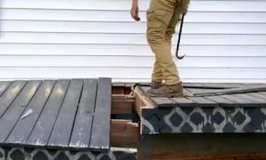 Gravity Causes Deck Demolition Fail