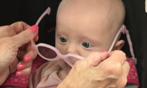 Baby Gets Glasses And Can See Clearly For First Time
