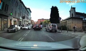 Mercedes Crashes Into Parked Car