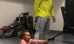 This baby girl has the best reaction when the music comes on
