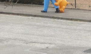 Postman Brightens the Mood with Silly Costume
