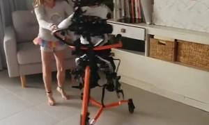 Quadriplegic Boy Smiles From a Good Dance