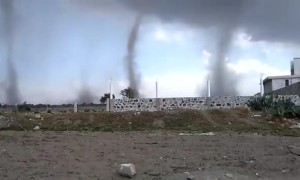 Four tornadoes captured on camera in Buenos Aires