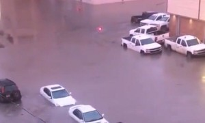 Footage from downtown Fort McMurray shows how high flood waters rose