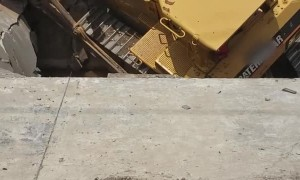 Excavator Falls into Old Secret Basement on Job Site