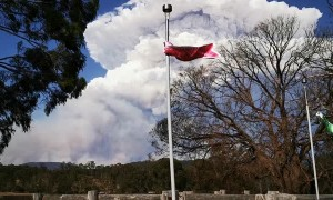 Huge Pyro-Cumulus Storm Cloud Generated by Bushfire Smoke