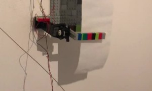 Wall Mounted Automatic Toilet Paper Dispenser Made From LEGO