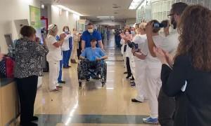 Hospital Celebrates the Release of COVID-19 Survivor