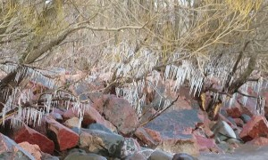 Polar Vortex Freezes The Shores of Chequamegon Bay