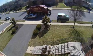 Awkward Uber Eats Delivery Caught On Doorbell Camera