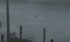 One Persistent Paddle Boarder