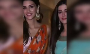 Kriti sanon and her sister getting clicked