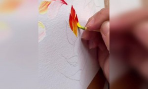 Water painting looks amazing