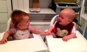Baby twins can't stop laughing and it's totally contagious