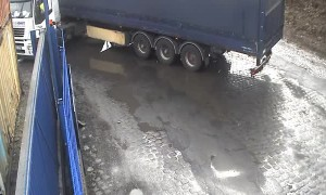 Truck Driver Wrecks Truck Attempting to Make Tight Turn