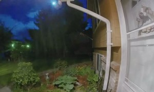 Doorbell Camera Catches Meteor Lighting up the Night Sky