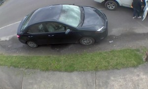 Neighbor Accidentally Backs Into Parked Car