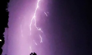 Storm Fills Sky With Spectacular Lightning