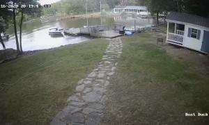 Step Gets Bigger While Docking Boat