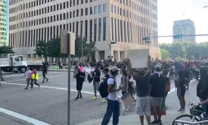 Time-Lapse of Huge Houston Protest