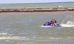 Young Man Swept Off Pier in Wisconsin
