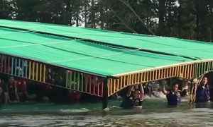 Barely Floating Pontoon Boat