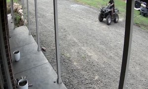Forklift Stuck in the Mud Won't Move