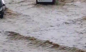 Heavy rains cause unreal flash floods in Ajaccio, Corsica