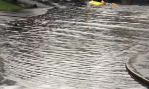 Storm Kayaking in the Street