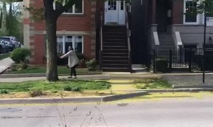Neighborhood Participates in Silly Walking Zone