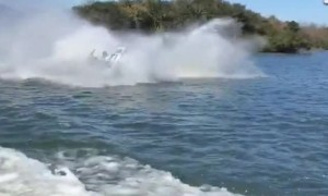 Man Wrecks on Jet Ski