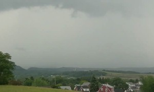 Compilation of a barrage of cloud-to-ground lightning to the south of Cumberland,